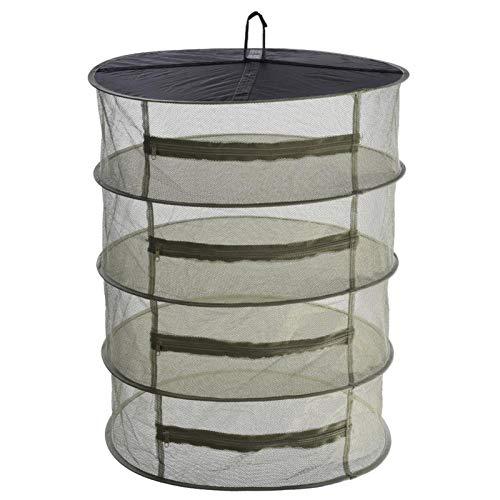 househome 4 couches maille suspendue filet de séchage d'herbe de séchage d'herbe avec des fermetures à glissière-45 cm / 60 cm