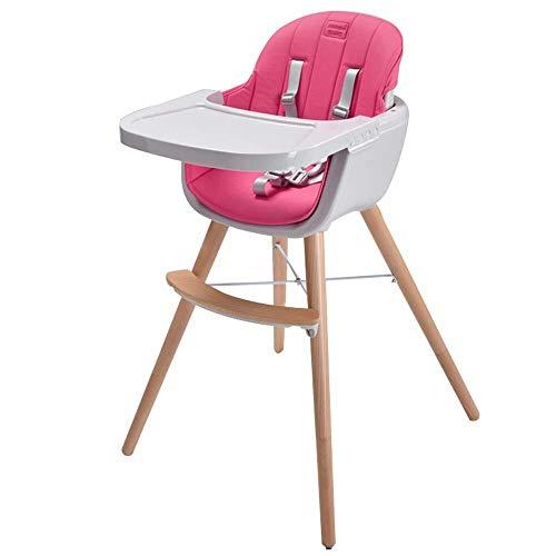 SOAR Hochstuhl Baby Hochstuhl, Kinder Haushalt Esszimmerstuhl, Massivholztisch Hocker, Multifunktions, Kindersitz (Color : Pink)