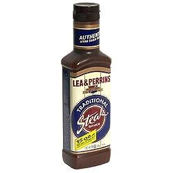 top 10 steak sauce brand Lea  Perrins Traditional Steak Sauce, 15 oz Bottle (4 per pack)