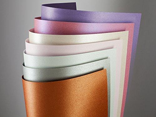 20 FALAMBI Premiumkarton Millenium kupfer, Papier 220 g/m², bedruckbar, metallic Karton, durchgefärbt