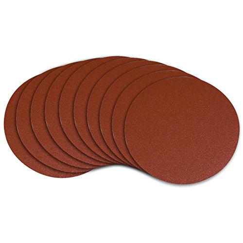 POWERTEC 4D1010A 10-Inch PSA 100 Grit Aluminum Oxide Adhesive Sanding Disc, 10-Pack