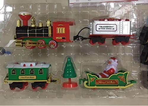 jojofuny Juego de Tren de Navidad Modelo de Tren Eléctrico Cigarrillos Y...