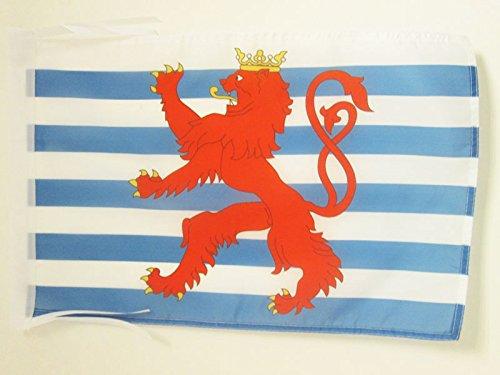 AZ FLAG Flagge Luxemburg MIT LÖWEN 45x30cm mit Kordel - LUXEMBURGISCHE Fahne 30 x 45 cm - flaggen Top Qualität