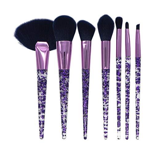 7 Pcs Transparent Make Up Brush Fondation Brush Acrylique Maquillage Brush Set
