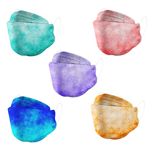 Koippimel _Mask for Adults Women, Tie-Dye Disposable Face_Masks, 50PCS, 0206_11