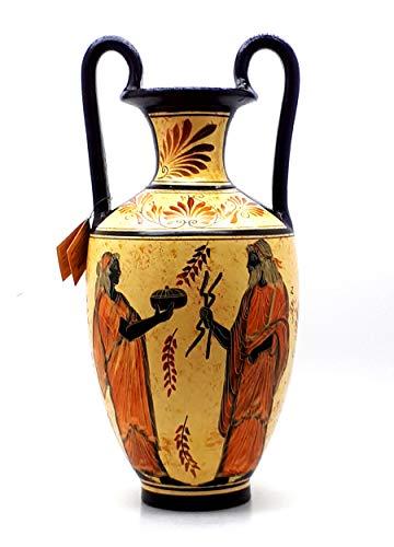 greekartshop Amphora Vase griechische Keramik Keramik Malerei Göttin Hera & Gott Zeus
