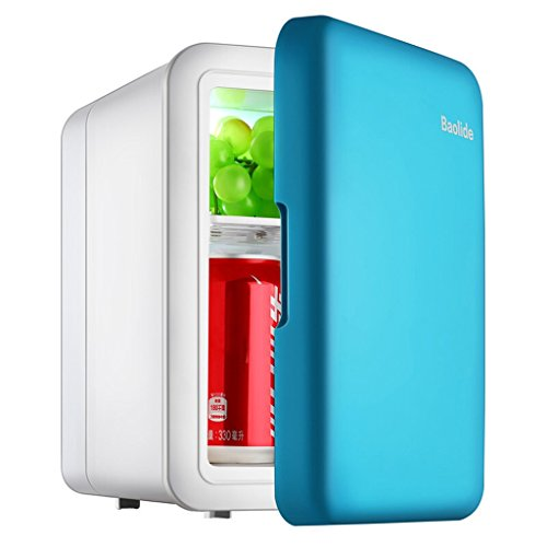 JCOCO Mini Fridge 4L Mute Reefer Cooler Box (Home Office And Car Use) (color : Blue)