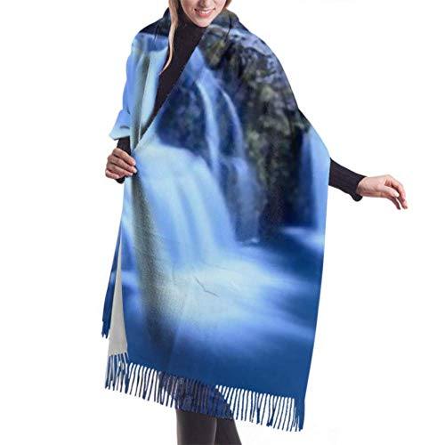 Pashmina Shawls and Wraps Scarf, Classic Cashmere Feel Unisex Winter Scarf, Kirkjufell Mountain Iceland Beautiful Sunset Over Long Large Warm Scarves Wrap Shawl Stole