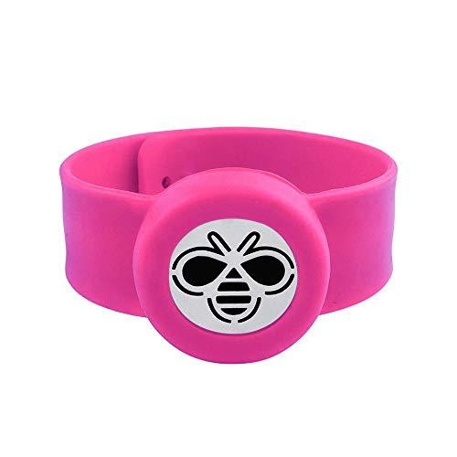 IJEWALRY Damenarmband Armbänder Armband,Fashion Fine Cure Rose Red Kinder Ätherisches Öl Diffusor Armband Silikon Slap Armband Kinder Mückenschutz Aromatherapie Medaillon