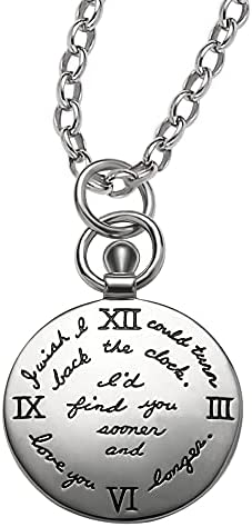 BB Becker Turning Back Time Sterling Silver Necklace Anniversary Gifts for Her Wife Birthday Gift for Girlfriend