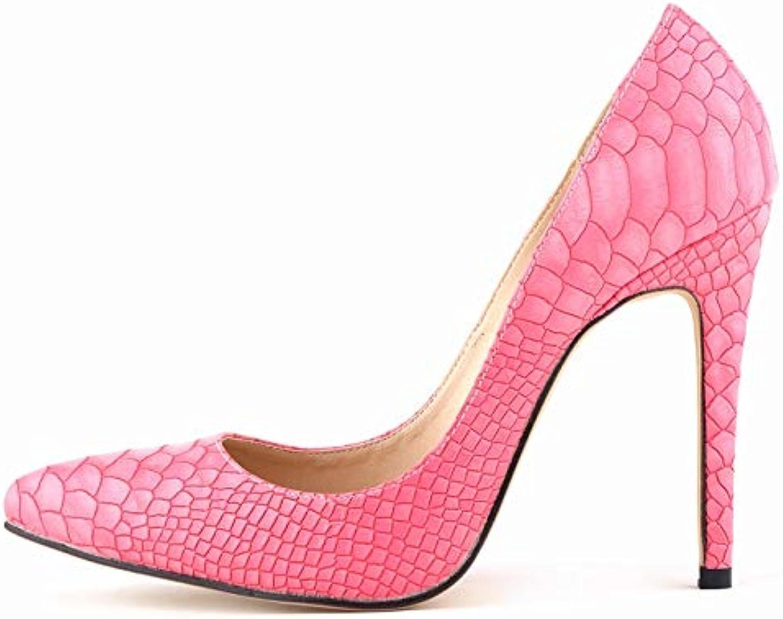 FLYRCX Mode fein mit Spitzen flachen Mund Schlange Temperament Damen reizvolle Absatzschuhe Schuhe Partei