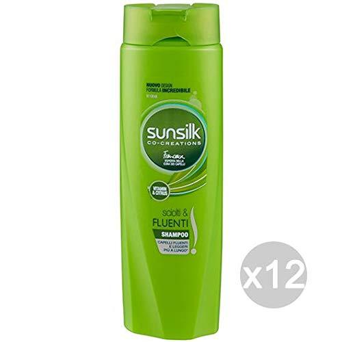 Sunsilk Set 12 Shampoo Sciolti-Fluenti Normali 250 Cura E Trattamento dei Capelli, Multicolore, Unica