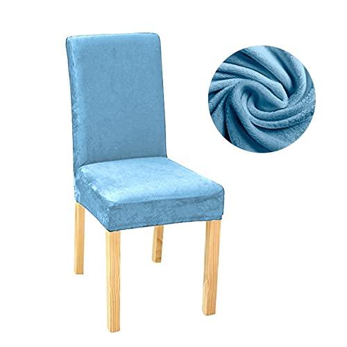 ASVNDD Stuhlabdeckung Stretch Dining Slipcovers Spandex Plüschschutz Für Haus Esszimmer (Color : Sky Blue, Specification : Universal)