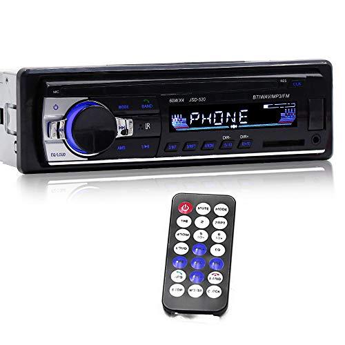 Docooler FM Radio de Coche Bluetooth,Reproductor de Audio para automóvil Radio para automóvil Estéreo Autoradio 12V En el Tablero FM Entrada Auxiliar Receptor Ranura para Tarjeta SD USB MP3 MMC WMA