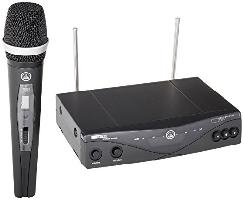 AKG Pro Audio WMS470 Vocal Set D5 Band 8 Wireless Handheld Microphone System with SR470 Stationary Receiver and HT470 D5 Handheld Transmitter