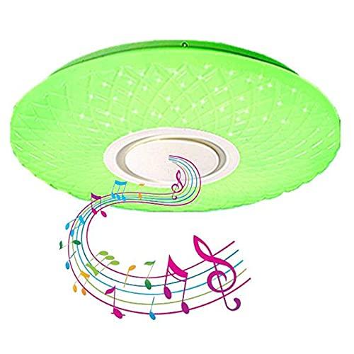 72W RGB Regulable Plafón Baño Ip44 Impermeable Lámpara De Techo Musical Con Altavoz Bluetooth,Aplicación Y Control Remoto,Araña Estrellada Para Cocina, Dormitorio, Fiesta,40cm72w