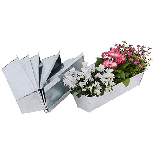 Nature by Kolibri Blumenkasten Set Balkonkasten Einsatz passend für Europaletten für Blumen, Kräuter und Früchte 6 Stück 38cm