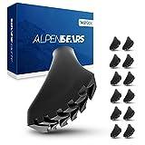 Alpen Bears Puntas Bastones Trekking para palos de senderismo - Tacos de goma 100% universal - 14 pcs de topes de goma para bastones de senderismo todo tipo de terreno - Repuestos bastones trekking