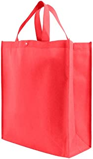 Reusable Grocery Tote Bag Large 10 Pack - Red
