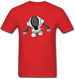 تي شيرتات - تي شيرت برسمة كلب الروبوت الغريب قمصان رجالية علوية / تيشيرتات ثلاثية الأبعاد فريدة من نوعها بنمط أوكرانيا رقم...