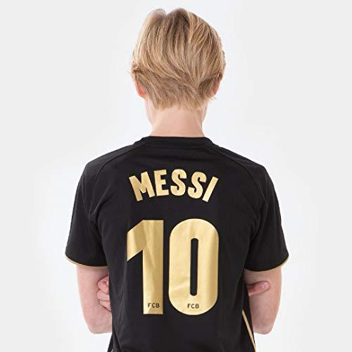 FC Barcelona Morefootballs - Offizielles Lionel Messi Auswärts Trikot Set für Kinder - 2020/2021-164 - FCB Tenue mit Messi Nummer 10 - Fussball Shirt und Shorts