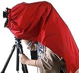 eTone Cubierta de enfoque profesional de color rojo y negro, paño oscuro para 4 x 5 gran formato, protección para el embalaje de la cámara 4 x 5