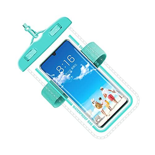 WANGQ Funda Impermeable para Teléfono Móvil, Funda para Teléfono Móvil Bolsa Móvil Al Aire Libre Universal Impermeable, Cordón Innovador Y Puño Elástico, para Rafting, Natación, 7 Pulgadas