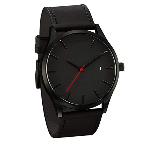 Ba30DEllylelly Pequeño Dial Redondo Casual Elegante Mans Relojes de Pulsera Banda de Moda Escala Reloj Masculino