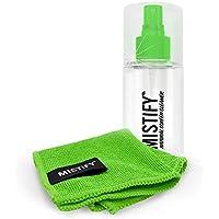 Mistify 120ML Producto Spray Natural de Pantalla + Gamuza Microfibra - Libre de Amoníaco y Alcohol [Sin Pelusa para Usar en TVs, Computadoras, Tabletas, Teléfonos, Pantallas de Retina]