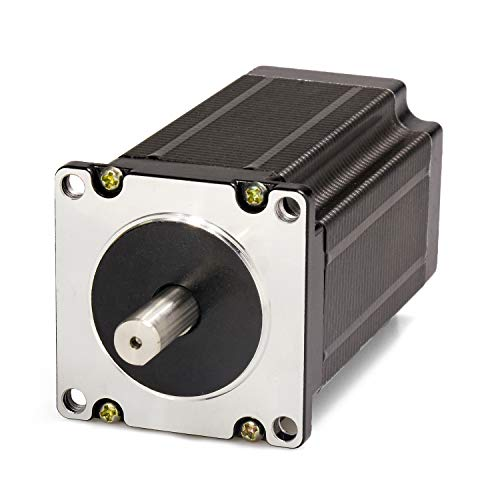 Nema 23 Stepper Motor 2.8A 1.9Nm (269oz.in) 76mm Length with 8mm Diameter of Shaft for CNC Mill Lathe Route(8mm Shaft)
