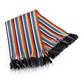Rees52 20cm Dupont Wire Color Jumper Cable, 2.54mm 1P-1P Male To Female 40Pcs