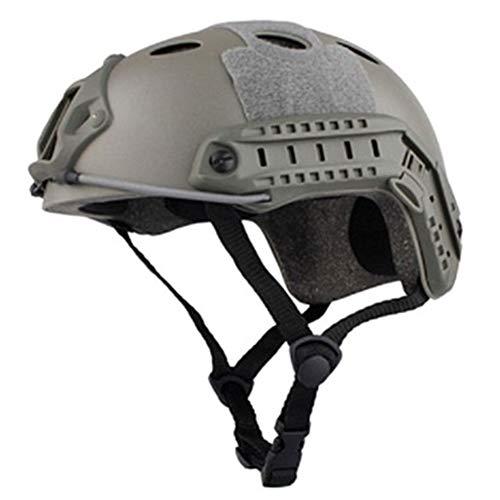 DRAGYI Version Taktischer Helm Outdoor CS Live-Action Game Combat Equipment Military Enthusiasten Outdoor Reithelm, Unisex, grau