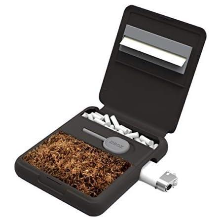 Tobox Portatabacco in plastica rigido moderno e tascabile (Nero)