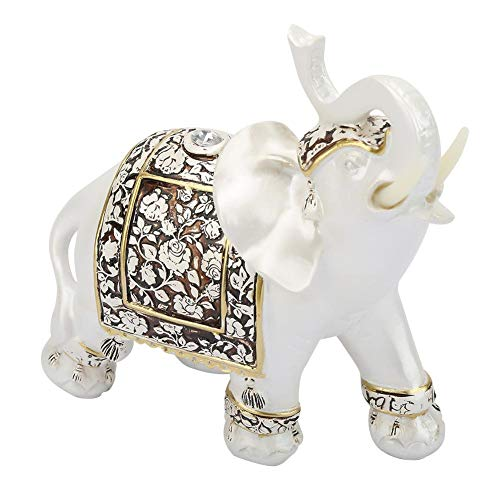 Elephant Figurines with Trunk Up, Vintage Exquisite Elephant Model Ornaments Statue, Elephant Figurines Home Decor