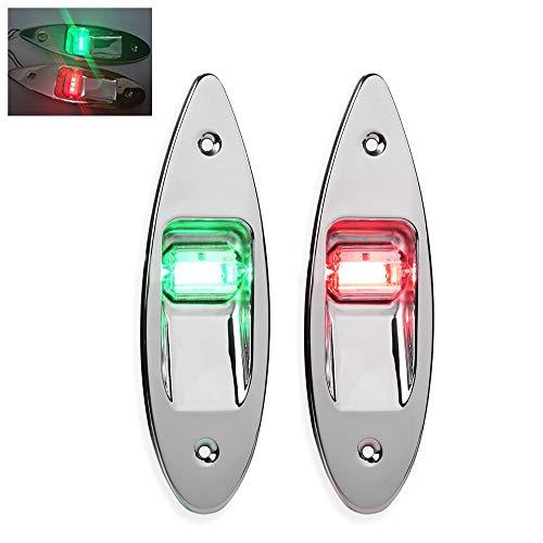 TopHGC Led Navigationslichter, 12V Marine Boot Bug Sicherheit Lichter rot und grün Marine Licht IP66 wasserdicht Segelsignal Lampe