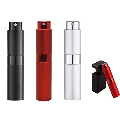 Perfume de Atomizadores,3Pcs Atomizador de Perfume Recargable Dispensador Portatil de Perfume Bote de Spray,8ml Pulverizador del Perfume de Atomizadores Dosificador de Perfume Spray Frasco para Viaje