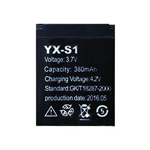 OCTelect Smartwatch Batterie YX-S1 wiederaufladbare Lithium-Batterie mit 380MAH Kapazität