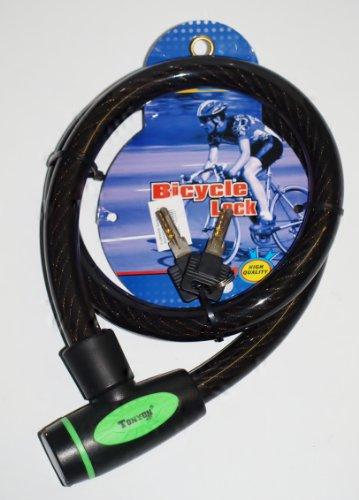 TONYON High Quality PANZER -Stahlseil Fahrradschloss 20 x 1000 mmBicycle Lock TY449D für Fahrräder Motorroller und Motorräder