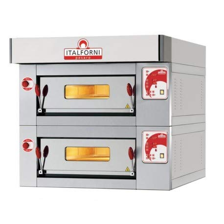 Four à pizza double électrique - 2 chambres - 12 pizzas - Italforni -