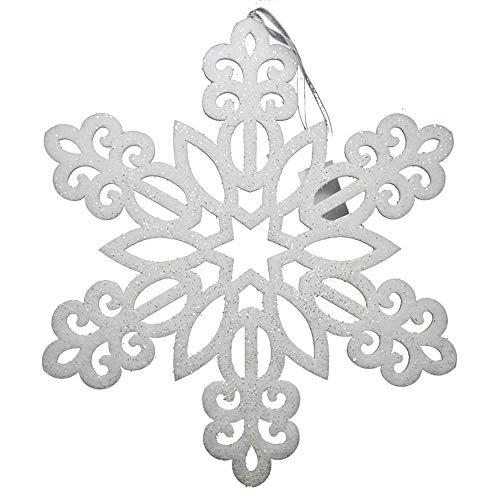Mazzeo Fiocco di Neve Decorativo 40x40 cm