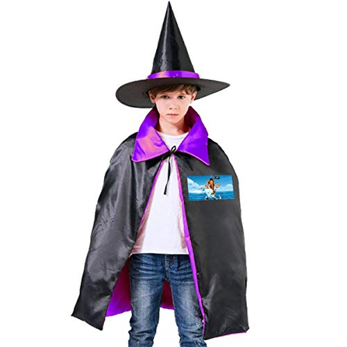 NUJSHF Ic-e Ag-e Unisex Kinder Umhang mit Kapuze, Halloween, Party, Dekoration, Rolle, Cosplay, Kostüme Outwear