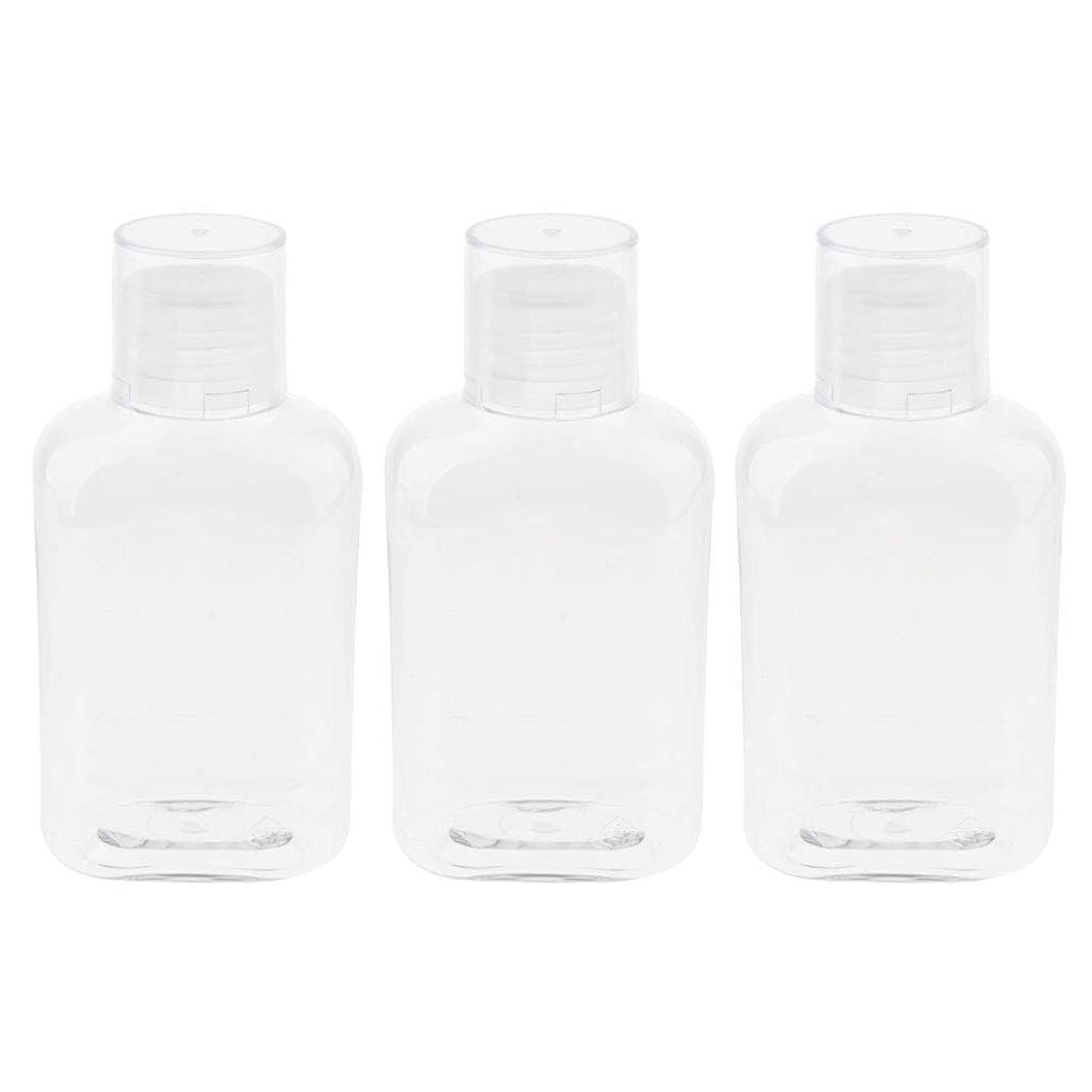 ミシン目流行している舌なgazechimp 空のボトル 詰替え容器 収納ボトル 収納瓶 液体ボトル ローションボトル 3個入 - クリアキャップ