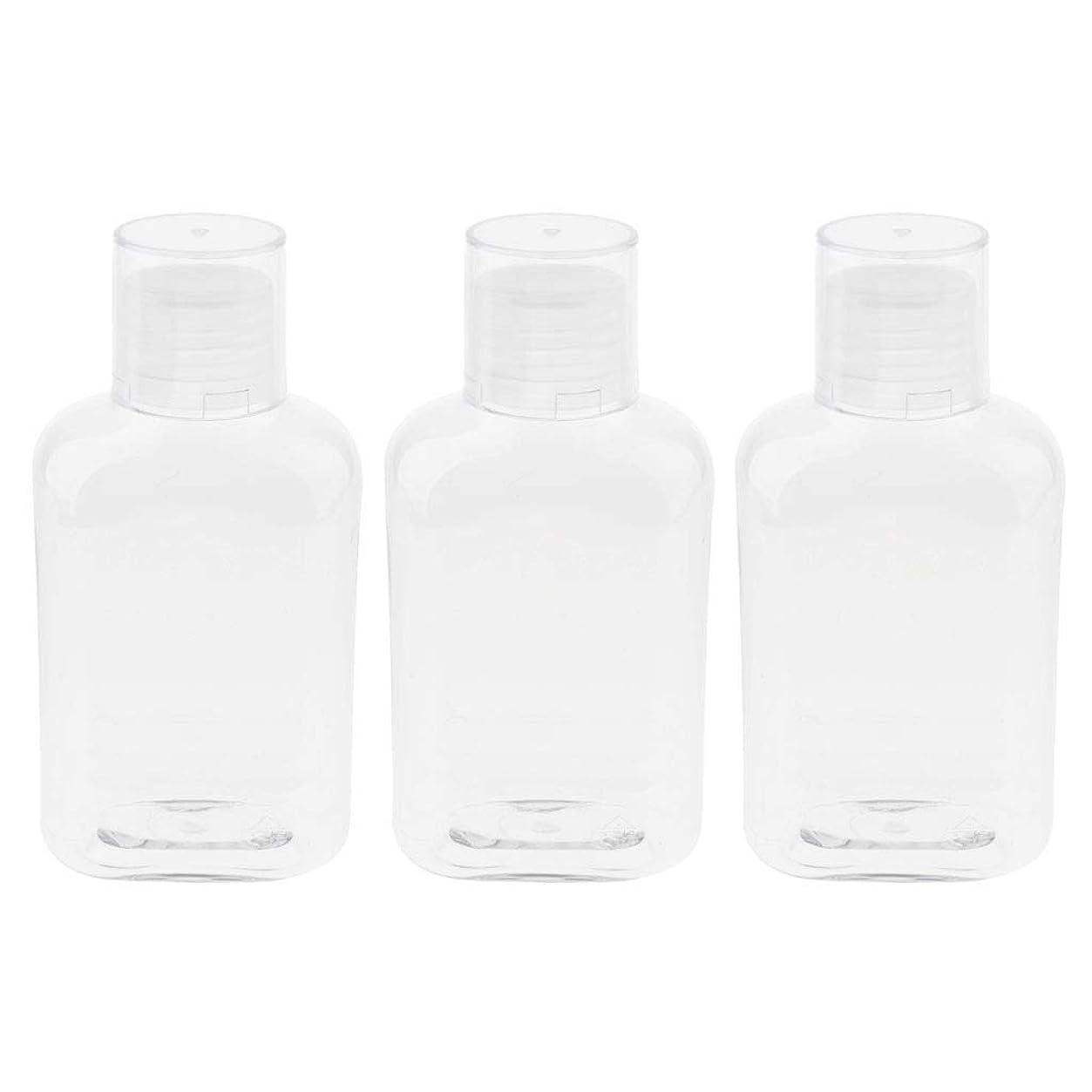晩餐物理的に嫌がるgazechimp 空のボトル 詰替え容器 収納ボトル 収納瓶 液体ボトル ローションボトル 3個入 - クリアキャップ