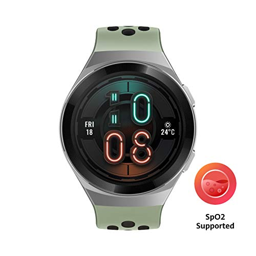 HUAWEI Watch GT 2e Smartwatch (SpO2-Monitoring,Herzfrequenz-Messung,Musik Wiedergabe,GPS,Fitness Tracker,5ATM wasserdicht) mint green