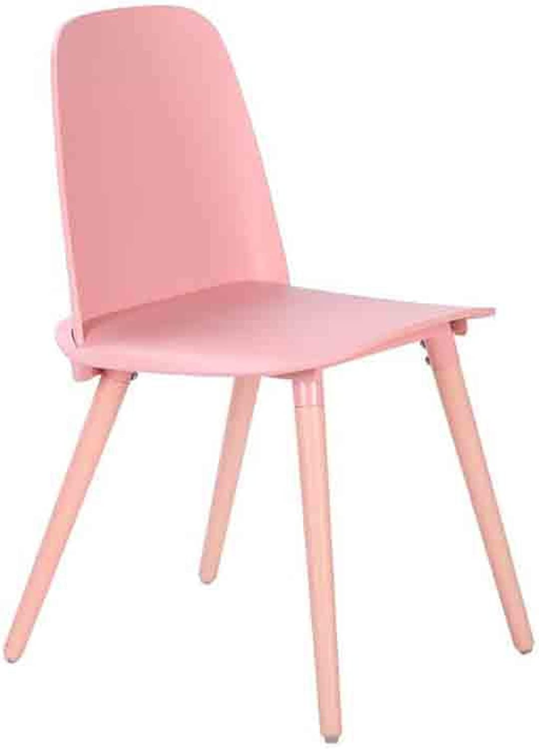 YCSD Inspired Chair Plastic Household Dining Cafe Chair Office Chair Lounge (color   Pink)