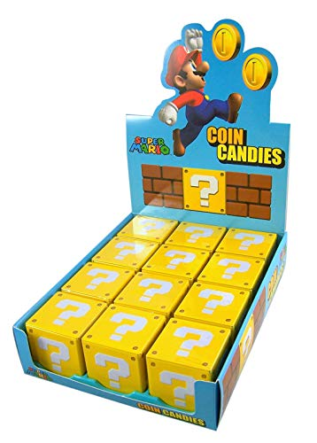 Nintendo Super Mario Question Mark Box Coin Candy - 12-box Case