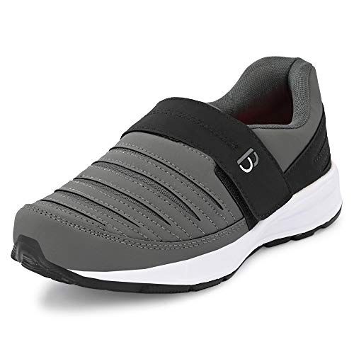Bourge Men's Loire-63 D.Grey and Black Running Shoes-10 UK/India (44 EU) (Loire-63-D.Grey-10)