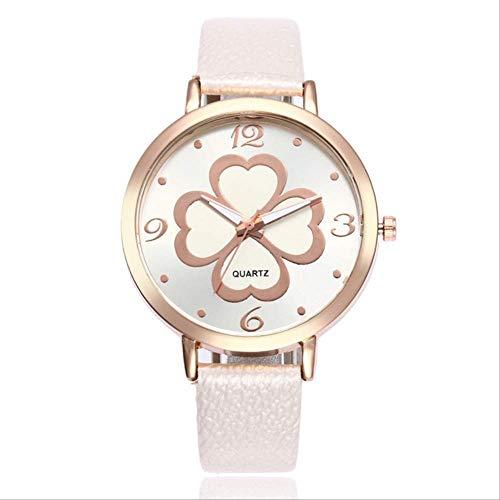 WLKVUOT Vrouwen Quartz Horloges Mode Horloge Romantische Dames Lederen Band Wristatches
