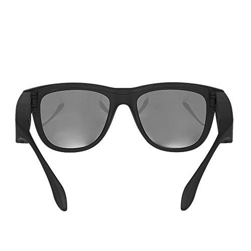 Docooler G1 Gafas de Sol Polarizadas con Auriculares Bluetooth de Conducción ósea Auriculares Inalámbricas SmartTouch Stereo Music Auriculares con Micrófono Negro