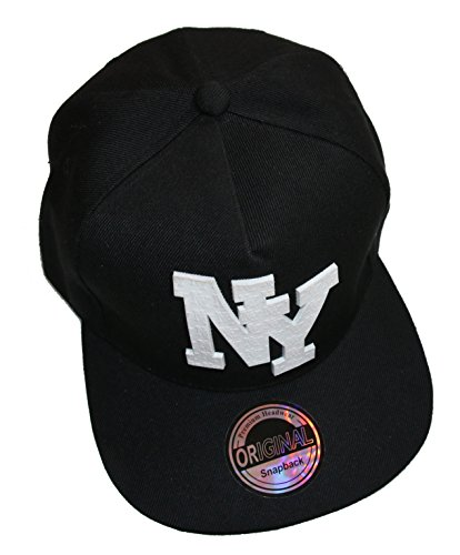 Prime Gomme Style Casquette Snapback - Unisexe, NY Noir, Taille: Environ 52-60 cm